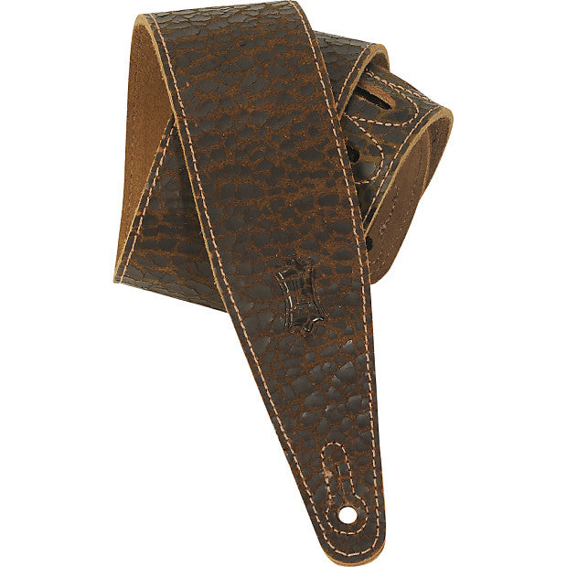 "Levy's MD317JAD-DBR 2.5"" Cracked Leather Guitar Strap"