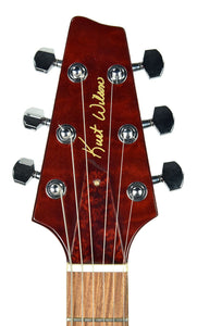 Kurt Wilson Standard in Black Cherry - Headstock Front