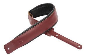 "Levy's 2.5"" Leather Guitar Strap w/ Foam Padding & Garment Leather Backing"
