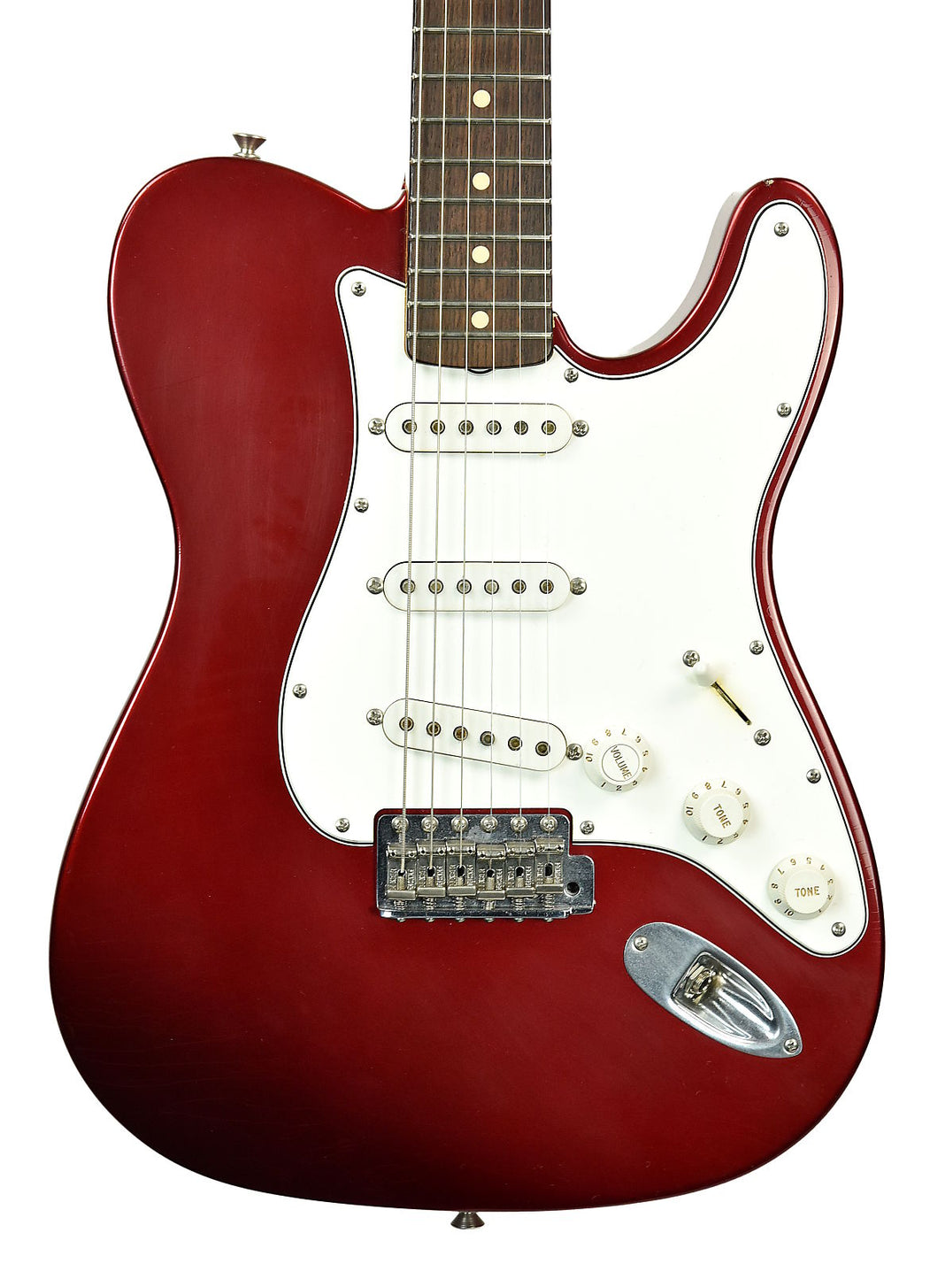 Used 2006 Fender® Custom Shop Chris Fleming Masterbuilt Hybrid Tele in Candy Apple Red | Front Small