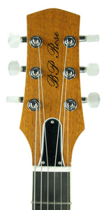 BP Rose Alexis Rose Semi Hollow Body in Honey Burst - Headstock Front - The Music Gallery