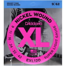 D'Addario Super Light .009-.042 EXL120 Nickel Wound Electric Guitar Strings - The Music Gallery