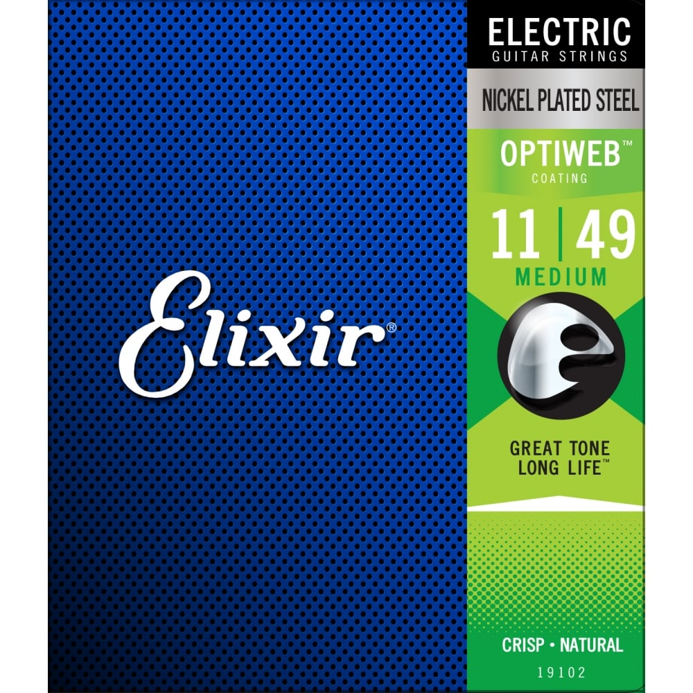 Elixir 19102 Optiweb 11-49 Medium Electric Guitar Strings