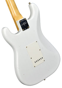 Fender Custom Shop 69 Stratocaster Journeyman Relic in Olympic White CZ547462 - The Music Gallery