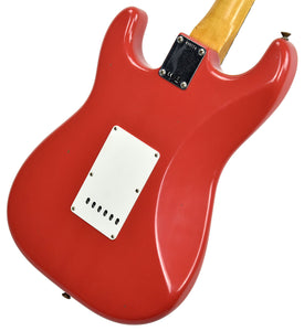 Fender Custom Shop 1963 Stratocaster Journeyman Relic in Fiesta Red R95774 - The Music Gallery