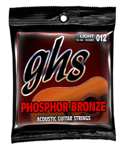 GHS S325 .012-.054 Phosphor Bronze Light Acoustic Guitar Strings | The  Music Gallery