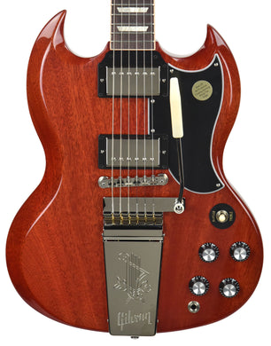Gibson USA SG Standard 61 Maestro Vibrola in Vintage Cherry 111290055 | The Music Gallery | Front Close