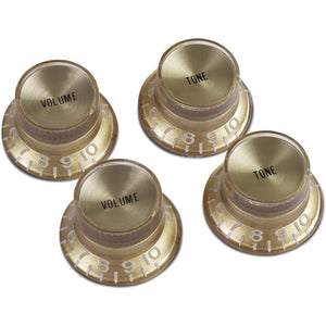 Gibson Accessories Top Hat Style Knobs w/Metal Insert - The Music Gallery