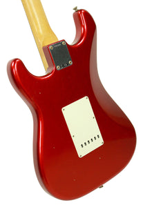 Fender Custom Shop 1963 Stratocaster Journeyman Relic in Candy Apple Red | Back Left | The Music Gallery