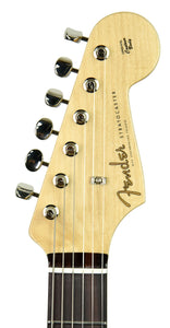 Fender Custom Shop Founder's Design Strat by Mark Kendrick in Golden Teal Sparkle | Headstock Front
