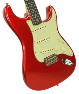 Fender Custom Shop 1963 Stratocaster Journeyman Relic in Candy Apple Red | Front Left | The Music Gallery