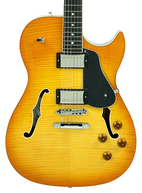 BP Rose Alexis Rose Semi Hollow Body in Honey Burst - Front - The Music Gallery