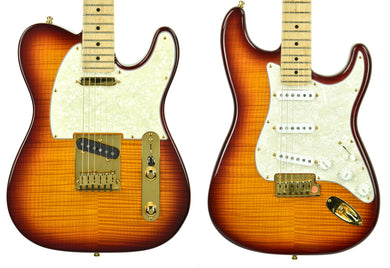 1993 Fender Custom Shop Flame Maple Top Stratocaster & Telecaster Set #18 of 50 - The Music Gallery