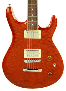 Kurt Wilson Semi-Hollow KW-S7DXL in Trans Amber 13116 - The Music Gallery