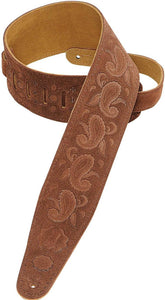 "Levy's Leathers MS17T03 2.5"" Suede-Leather Guitar Strap with Kokopelli Design"