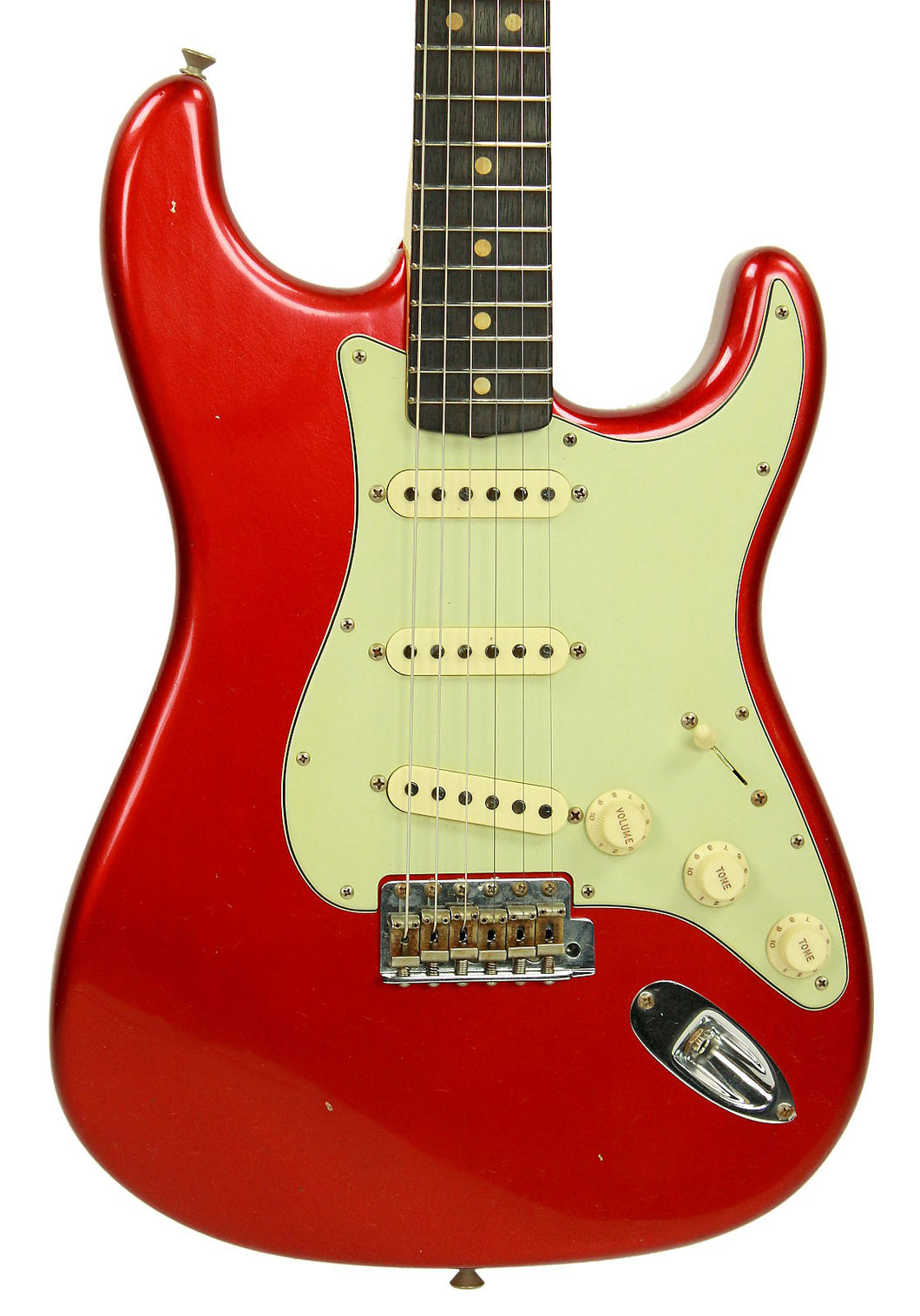Fender Custom Shop 1963 Stratocaster Journeyman Relic in Candy Apple Red | Front Small | The Music Gallery