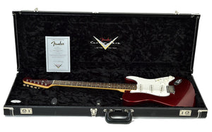 Used 2006 Fender® Custom Shop Chris Fleming Masterbuilt Hybrid Tele in Candy Apple Red | Case Open