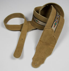 "Franklin 2.5"" Southwest Suede Guitar Strap - The Music Gallery"
