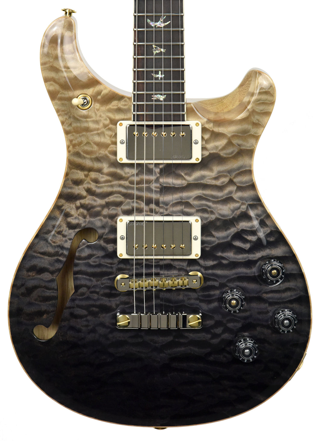 PRS Wood Library McCarty 594 Semi Hollow in Grey Black Fade 190269515 - The Music Gallery