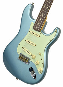Fender Custom Shop 1963 Stratocaster Journeyman Relic in Ice Blue Metallic | Front Right