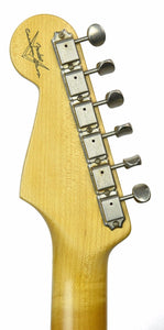 Fender Custom Shop 1963 Stratocaster Journeyman Relic in Ice Blue Metallic | Headstock Back | The Music Gallery