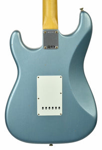 Fender Custom Shop 1963 Stratocaster Journeyman Relic in Ice Blue Metallic | Back Small | The Music Gallery