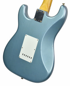 Fender Custom Shop 1963 Stratocaster Journeyman Relic in Ice Blue Metallic | Back Right | The Music Gallery