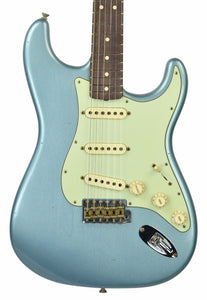 Fender Custom Shop 1963 Stratocaster Journeyman Relic in Ice Blue Metallic | Front Small | the Music Gallery