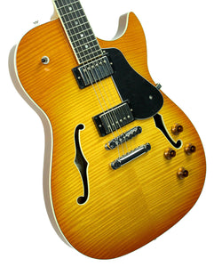 BP Rose Alexis Rose Semi Hollow Body in Honey Burst - Front Left - The Music Gallery