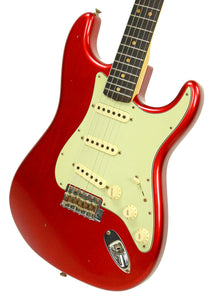 Fender Custom Shop 1963 Stratocaster Journeyman Relic in Candy Apple Red R90064 - The Music Gallery