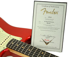 Fender Custom Shop 1963 Stratocaster Journeyman Relic in Candy Apple Red | Certificate | the Music Gallery