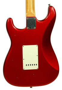 Fender Custom Shop 1963 Stratocaster Journeyman Relic in Candy Apple Red | Back Small | The Music Gallery