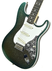 Fender Custom Shop Founder's Design Strat by Mark Kendrick in Golden Teal Sparkle | Front Right