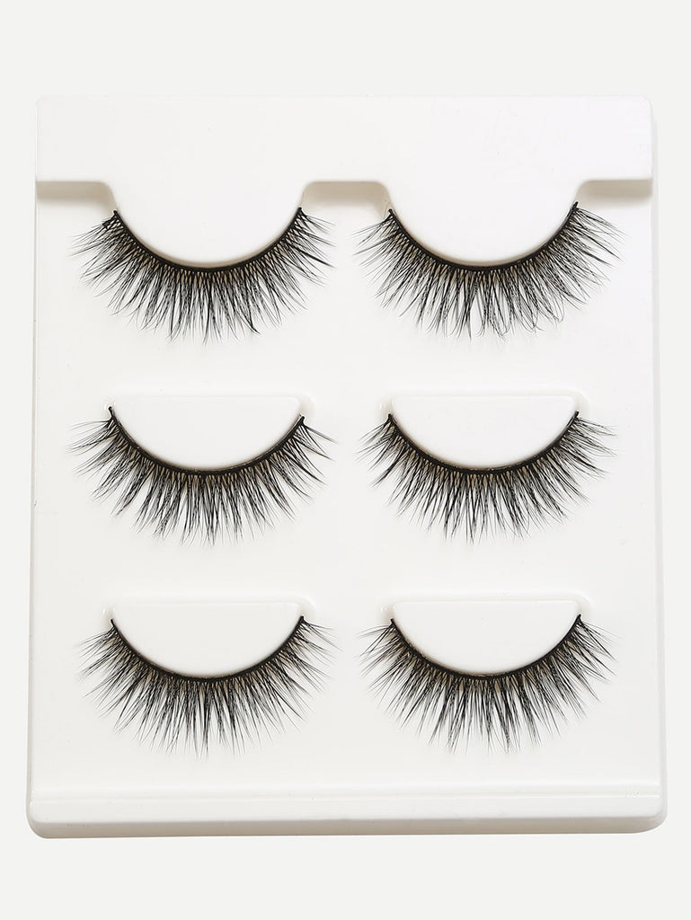 Natural Long Straight False Eyelashes (2)
