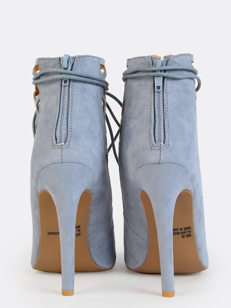 Pastel Cut Out Peep Toe Booties STORM BLUE (3)