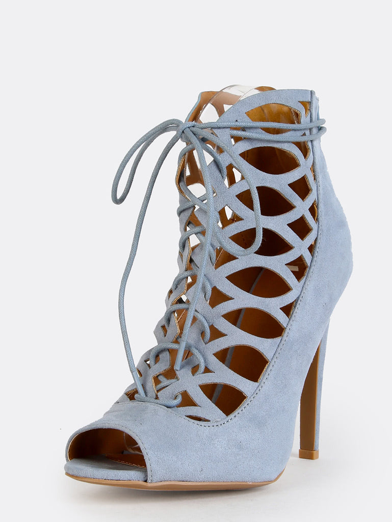 Pastel Cut Out Peep Toe Booties STORM BLUE (2)