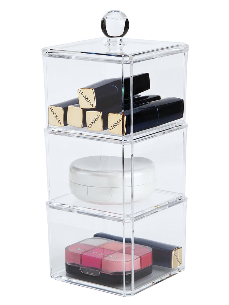 3 Layers Clear Professional Makeup Storage (3)