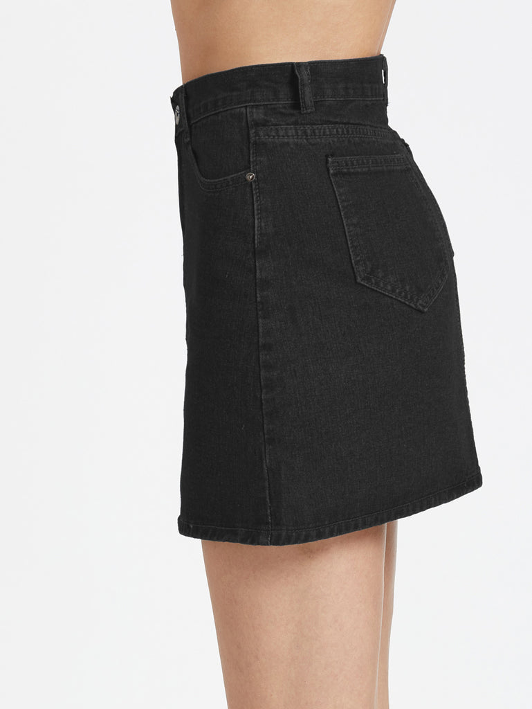 5 Pocket Denim Skirt (2)