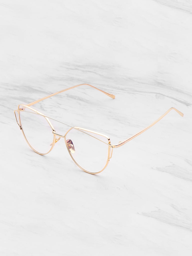 Metal Frame Cat Eye Glasses (2)