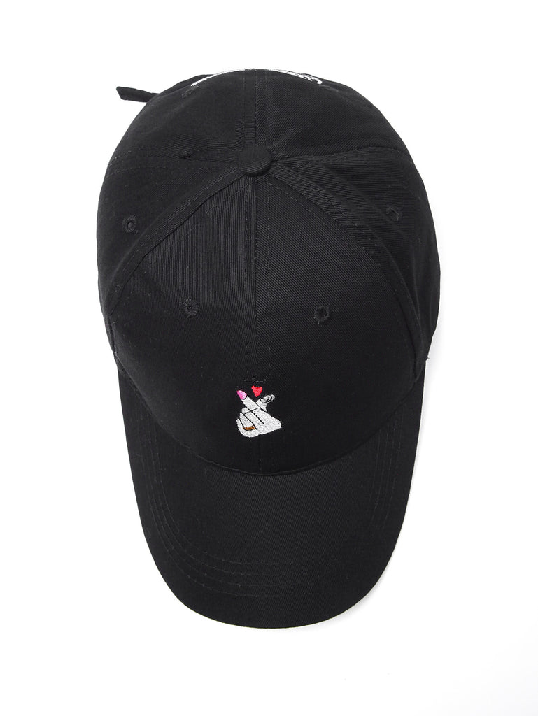 Heart Embroidery Baseball Cap (2)