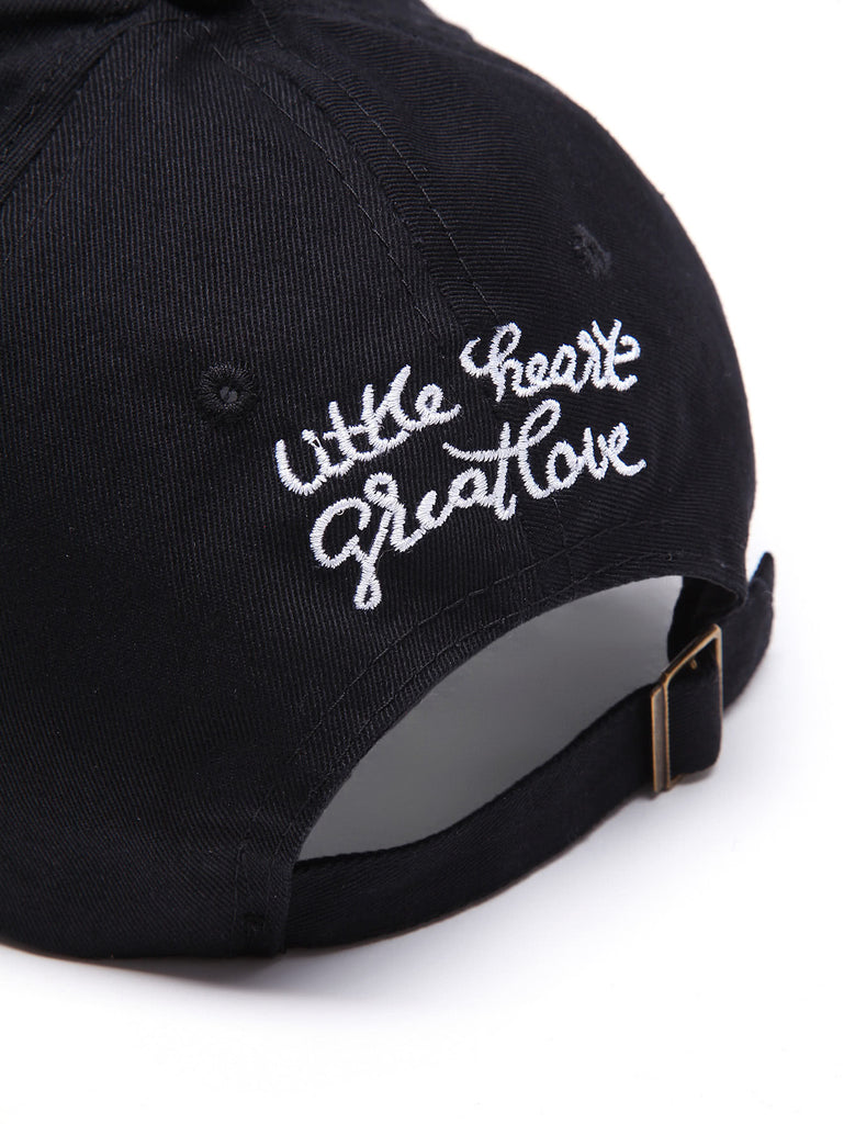 Heart Embroidery Baseball Cap (3)