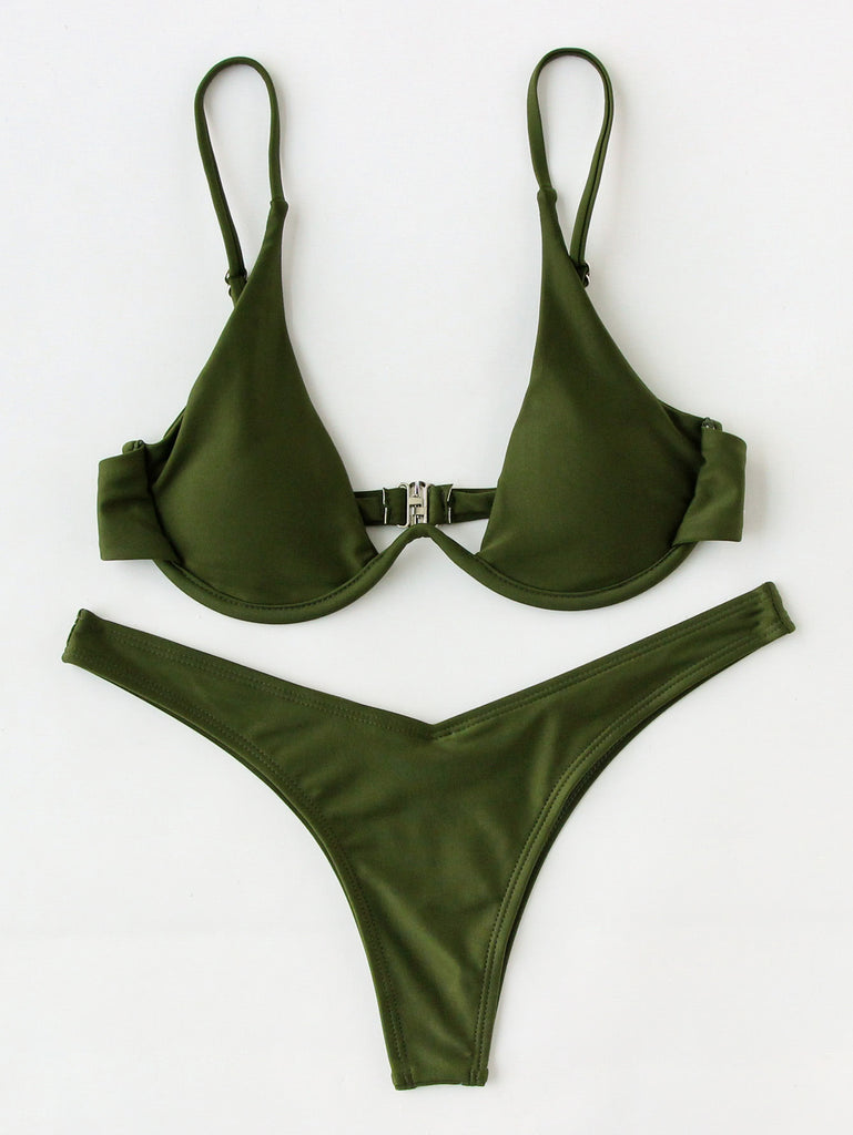 High Leg Underwire Bikini Set