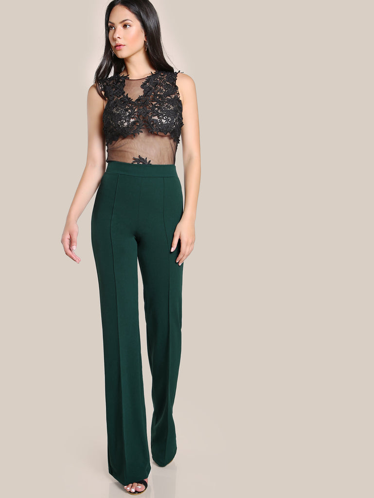 High Rise Piped Dress Pants (4)