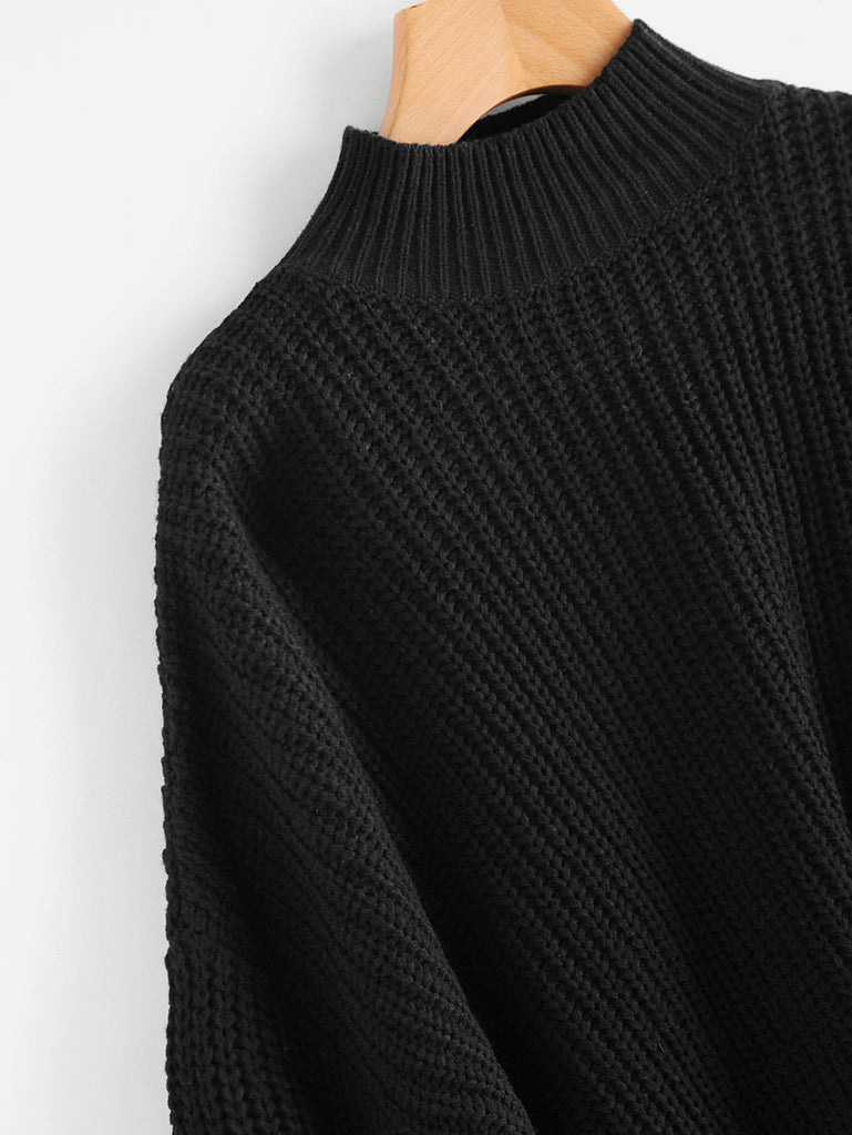 Drop Shoulder Bishop Sleeve Jumper (2)