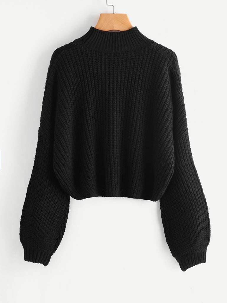 Drop Shoulder Bishop Sleeve Jumper (3)