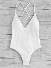 Criss Cross Ruched Detail Swimsuit