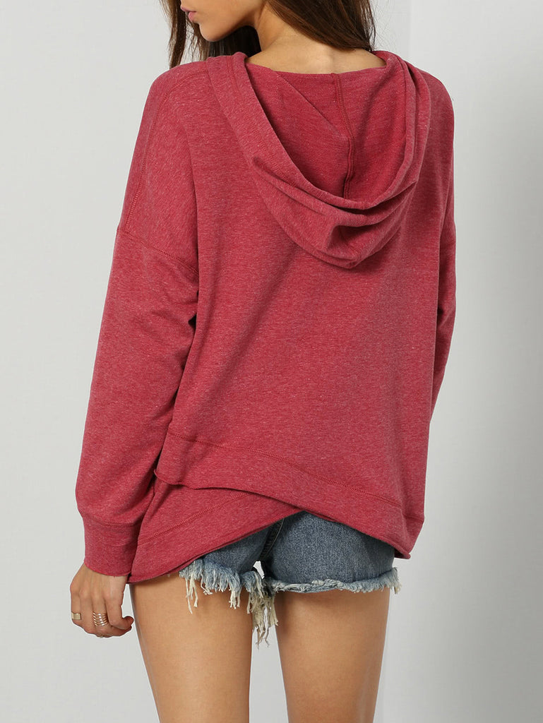 Dropped Shoulder Drawstring Hoodie (4)