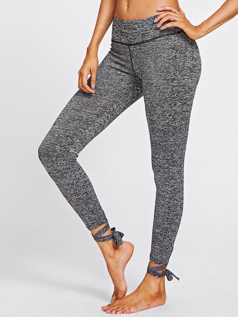 Lace Up Hem Marled Knit Leggings (3)