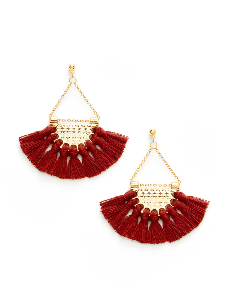 Mini Tassel Fan Shaped Earrings (2)