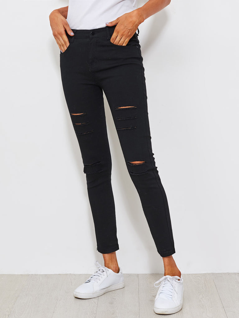 Distressed Skinny Jeans (3)